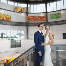 wedding couple at cade museum