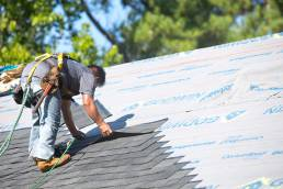 roofer working on roof