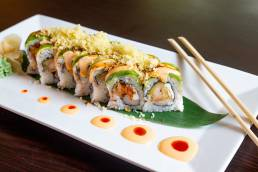 close up of sushi