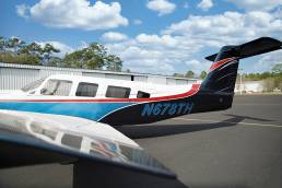 side view of small private plane